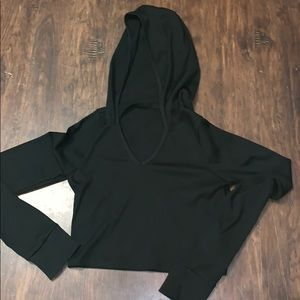 forever 21 crop  active sweater